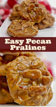 Pralines are a tantalizing combination of brown sugar and pecans and a classic southern treat. With our easy pecan praline recipe you can make this melt-in-your-mouth candy at home anytime in less than an hour! This is the perfect dessert for the holidays or anytime of the year! Try making these easy pecan pralines today! #candy #pecans #desserts #recipes #homemade #fall #holiday