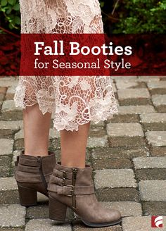 Are you lost when it comes to figuring out your fall look? Let us help by showing you some versatile looks you'll love. You won't want to miss these new fall booties!