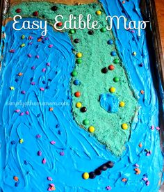 Teach Geography and Eat It Too! Make a Fun and Easy Edible Map! #homeschool