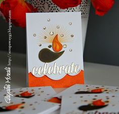 Ideas birthday gifts handmade stamp sets for 2019 Handmade Diwali Greeting Cards, Happy Diwali Cards, Diwali Greetings, Handmade Birthday Cards, Birthday Gifts, Diwali Card Making, Diwali Craft, Diwali Diya, Diwali Celebration