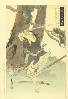 The Forty Seven Ronin. A rōnin (浪人) was a samurai with no lord or master during the feudal period of Japan. A samurai became masterless from the death or fall of his master, or after the loss of his master's favor or privilege. Ronin Samurai, Samurai Art, 47 Ronin, Japanese Artwork, Japanese Prints, Japanese History, Japanese Culture, Bushido, Art Occidental