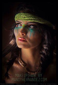 Austin makeup artist and hair   Native American makeup and hair   Makeup and Hair by Mandy Hernandez   photo Gregg Cestaro   Lola Laymon