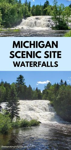 best places to visit in the midwest. hiking trail along the river with waterfalls. us outdoor travel destinations. vacation spots, ideas, places in the US. michigan things to do upper peninsula up north. US outdoor vacation road trip midwest from wisconsin, chicago, minnesota, illinois, indiana, ohio Michigan State Parks, Michigan Vacations, Michigan Travel, Mackinac Bridge, Picnic Spot, Us Travel Destinations, Outdoor Travel, Vacation Spots, Cool Places To Visit