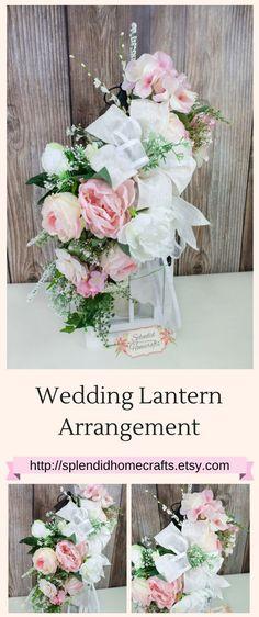 Lantern Swag, Wedding Lantern Swag, Rustic Wedding Table Decor, Wedding Floral Arrangement, Lantern Arrangement, Wedding Table Decor by Splendid Homecrafts on Etsy #weddingdecor #lanterns