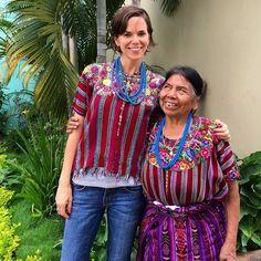 Vintage Maya huipiles from Patzun & antique blue trade beads