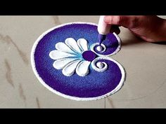 Very Easy Sankranthi Rangoli by Sangeeta, Sankranthi Muggu, kskitchenlifestyle Easy rangoli designs. Easy Rangoli Patterns, Easy Rangoli Designs Videos, Rangoli Designs Latest, Simple Rangoli Designs Images, Rangoli Colours, Rangoli Designs With Dots, Rangoli With Dots, Easy Rangoli Designs Diwali, Small Rangoli Design