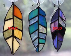 Stained Glass Feather Suncatcher/Ornament