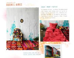 Beunos Aires theme by Anthropologie...don't be afraid of color, kids!