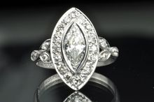 1.25 Art Deco Marquise Diamond Ring from Timeless Antiques at rubylane.com