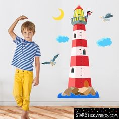 Faro medidor Niño - Vinilos infantiles   www.starstickvinilos.com