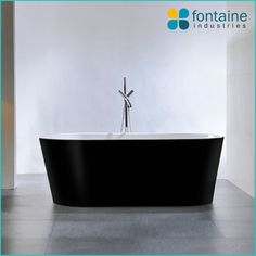 Modern Black Harper 1500 or 1700 Oval Rounded Freestanding Bath Also Available in White | Renovation Design Ideas Affordable | Fontaine Industries |