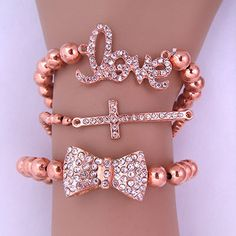 Rose gold arm candy set<3