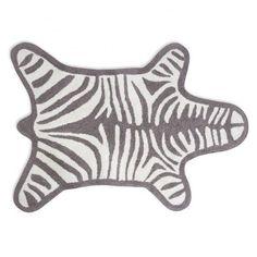 Jonathan Adler Zebra Bath Mat found on Polyvore