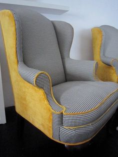 28 Mismatched Upholstery Furniture Ideas is part of Retro chair - If you want to renovate your furniture considering the hottest trends, take a look at velvet, leather and mixed upholstery The latter is a cool idea Funky Chairs, Vintage Chairs, Funky Furniture, Furniture Makeover, Furniture Ideas, Furniture Buyers, Furniture Design, Poltrona Bergere, Muebles Art Deco