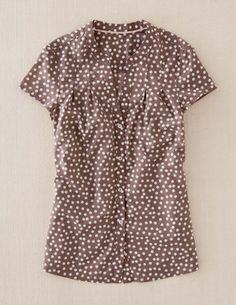 Boden retro spot shirt