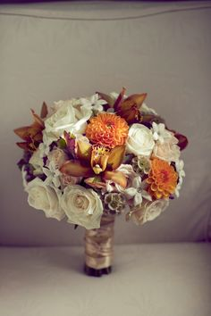 Warm and Earthy Fall Wedding Bouquets