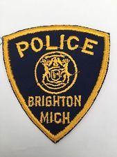 Very old Brighton Police, Michigan shoulder patch