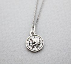 Luulla-Zizibejewelry -925 Sterling Silver Virgo, the Virgin Pendant necklace - Zodiac Sign jewelry, N0901S-$29.00