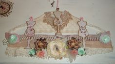 Shabby Chic Altered Hanger