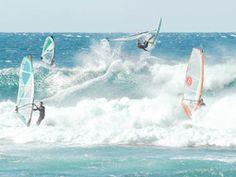 Hookipa windsurfers.