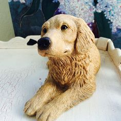 Golden Retriever Statue Sandicast Dog Figurine By ACertainFeel