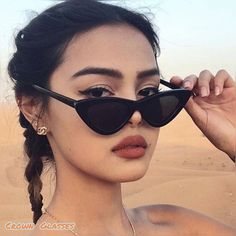 Sunglasses For Your Face Shape, Girl With Sunglasses, Cat Eye Sunglasses, Sunglasses Women, Retro Sunglasses, Black Sunglasses, Popular Sunglasses, Sunnies Sunglasses, Summer Sunglasses