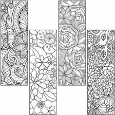 Color your own bookmarks - FREE printable bookmarks for coloring ...