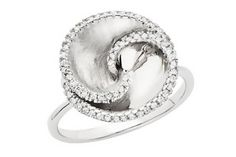love this! swirly silver ring