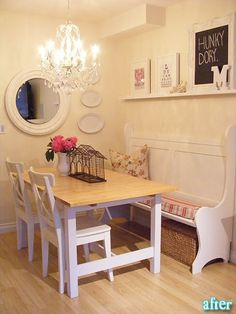 would love to have this table and bench!