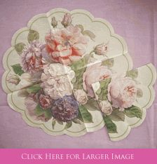 Fairy Rose Cream Rice paper Rondo Napkins - great as elegant napkins or as Rose Table decorations.