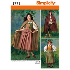 Simplicity Costume Patterns | Simplicity Misses' and Men's Costume Pattern