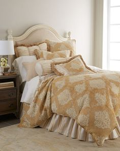 Belclaire Bedding by Isabella Collection by Kathy Fielder at Horchow. Bedroom Bed, Bedrooms, Bedroom Ideas, Duvet Cover Design, Luxury Bedding Sets, Bedding Collections, Home Accessories, Interior Design, Furniture