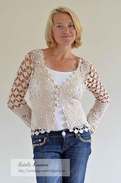 Outstanding Crochet: Beige Cardigan. Done.