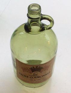 vin de table -pullo kauniilla etiketillä, korkeus 22cm