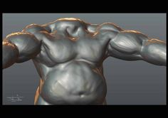 Un-finished old sculpting  #3d #cgi #cg #c4d #cinema4d #maxon #animation #after_effects #design #rendering #3dcoat #sculpting  #sculpture #digital_sculpting #fat_guy #muscles #wip #old_works by mohammadmohammad.rezaie