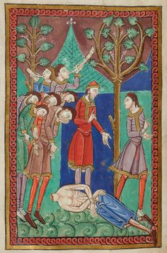 Body Found | Miscellany on the life of St. Edmund | England, Bury St Edmunds |  ca. 1130 | The Morgan Library & Museum