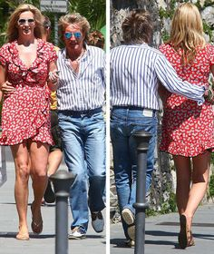 Rod Stewart, Penny Lancaster, Italy, holiday, marriage, in love