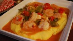 "Creamy ""Grits"" with Creole Shrimp"