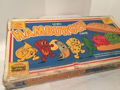 Hamburger Board Game Rare Vintage, Bilingual (English/ French) Chieftain Canada