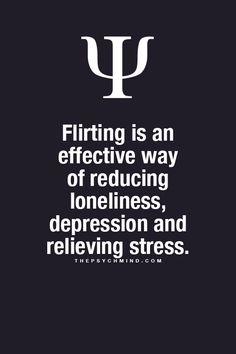 1. Gedanke: Ich sollte mehr flirten. 2. Gedanke: Ich bin weder alleine noch depremiert :D