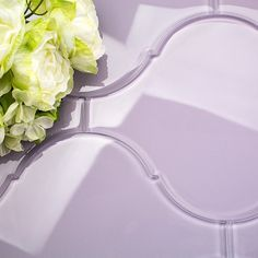 Loft Radiance Wisteria Glass Tile. Gorgeous for kitchen backsplash, bathrooms, or any decorated rooms! Shop this tile and more at TileBar.com