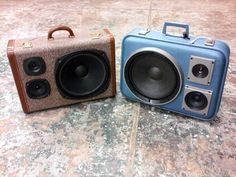 Vintage Suitcases Upcycled As Boom Boxes (Photos)