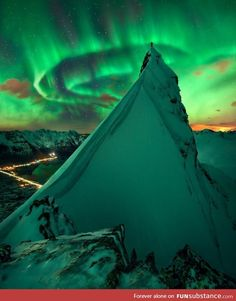 Under the Aurora Borealis in Svolvær, Norway - by Max Rive