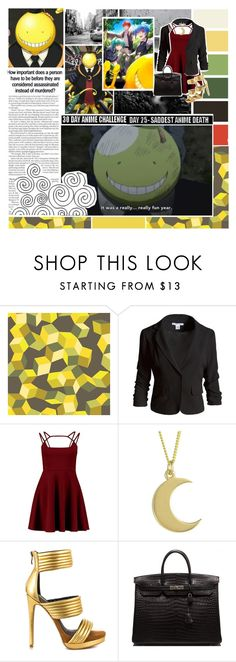 """""""Casual Cosplay: Koro - sensei (Assassination Classroom)"""" by phaedra-solaris ❤ liked on Polyvore featuring Cole & Son, Sans Souci, Boohoo, Lisa Angel, Mia Limited Edition and Hermès"""