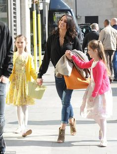 Coming together nicely: TV presenter Christine Bleakley spent the day with fiance Frank La...