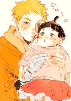 Naruto papa e hima bb Anime Naruto, Naruto Und Hinata, Naruto Cool, Boruto And Sarada, Hinata Hyuga, Itachi, Manga Anime, Sakura Uchiha, Clan Uzumaki