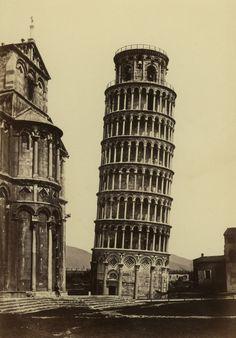 FRATELLI ALINARI   ... torre pendente, 1860 ca., Raccolte Museali Fratelli Alinari, Firenze