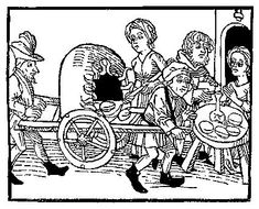 A Feast For The Eyes  31. A portable oven. From Medieval Life Illustrations.