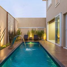 If you are working with the best backyard pool landscaping ideas there are lot of choices. You need to look into your budget for backyard landscaping ideas Backyard Pool Designs, Small Backyard Pools, Small Pools, Swimming Pools Backyard, Swimming Pool Designs, Outdoor Pool, Backyard Landscaping, Luxury Swimming Pools, Luxury Pools