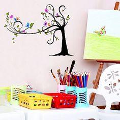 DCWV Birds & Trees Wall Stickers